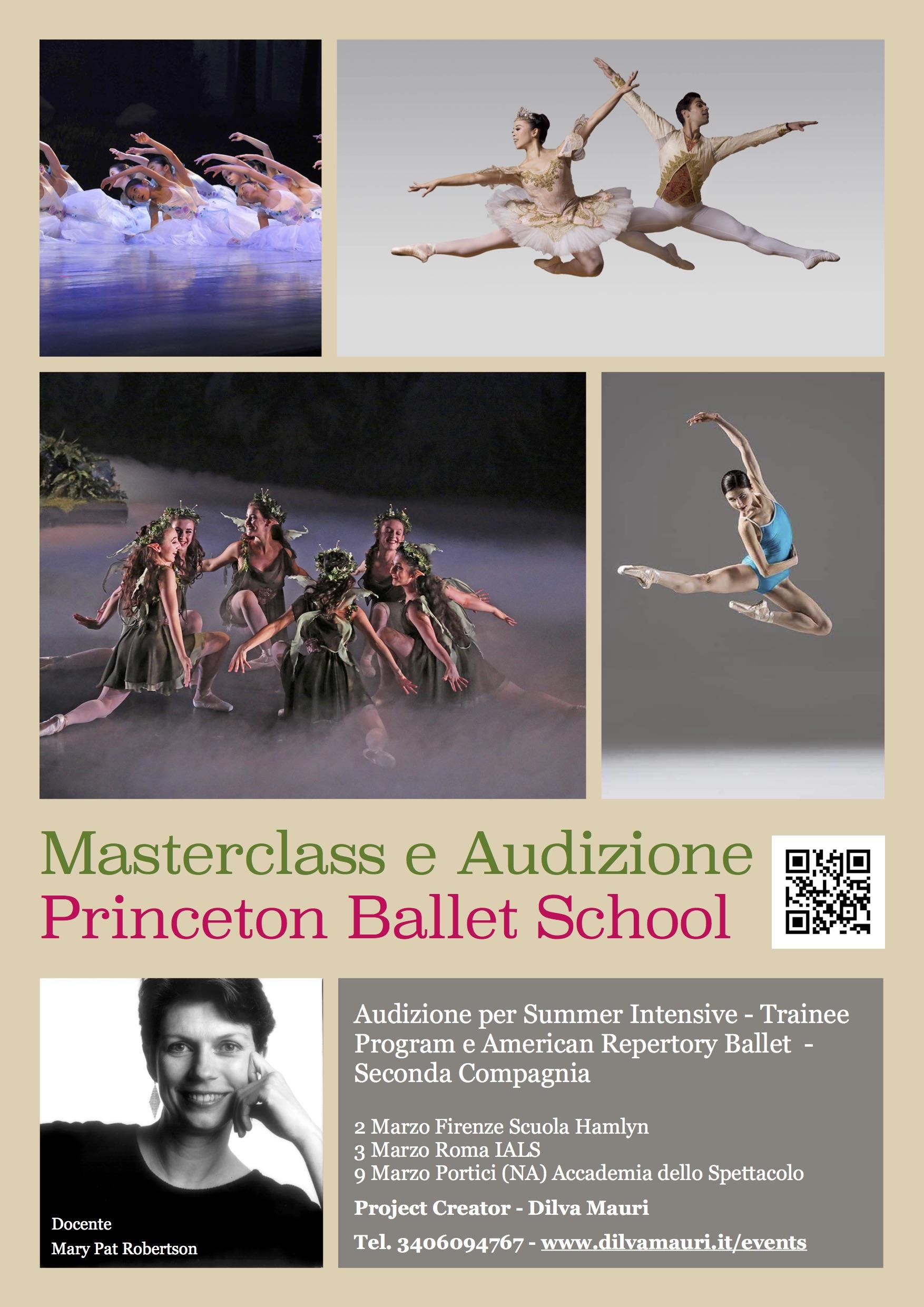Masterclass Audizione Princeton Ballet School 2019